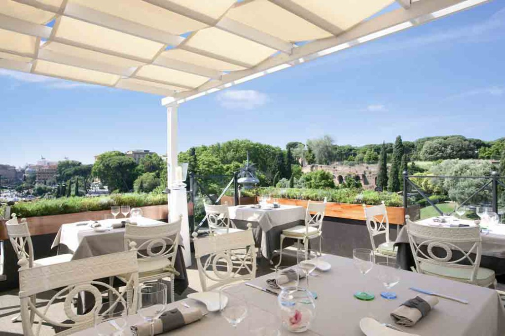 Aroma restaurant a fine dining experience in rome for 211 roof terrace cafe