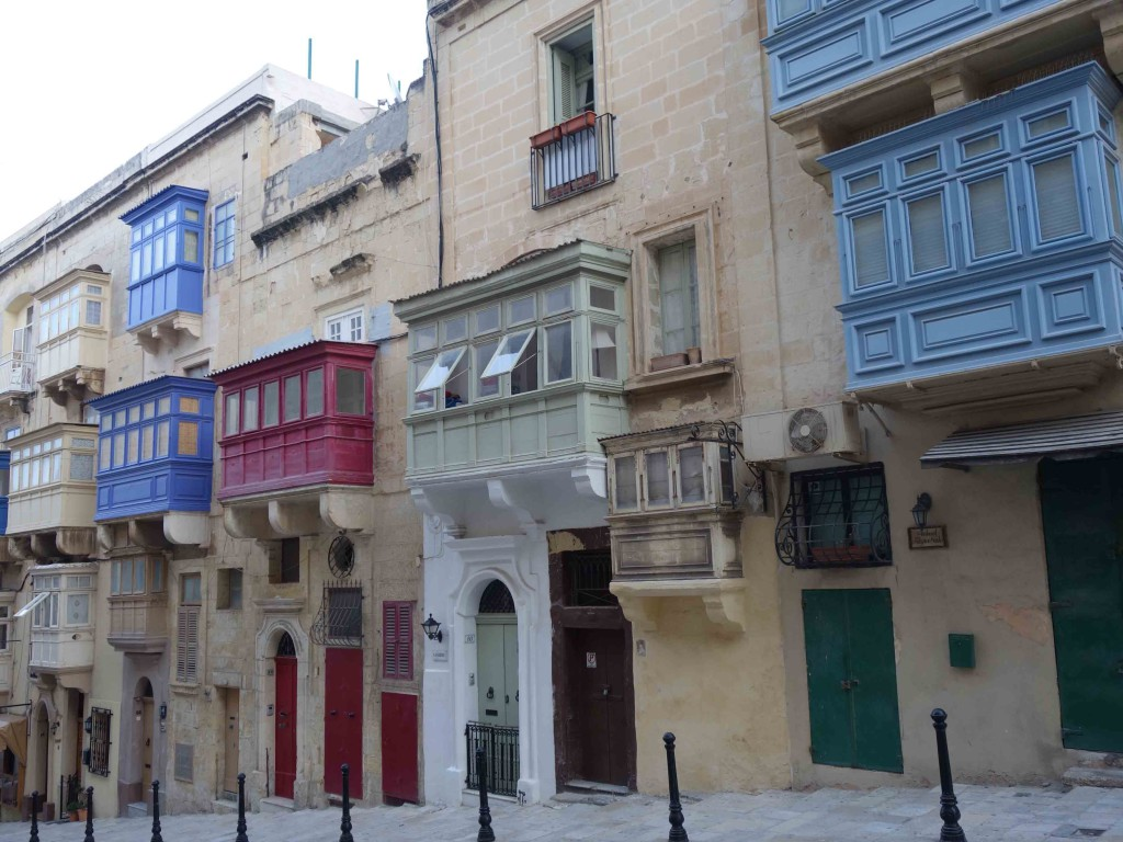 Valletta Malta colorful houses