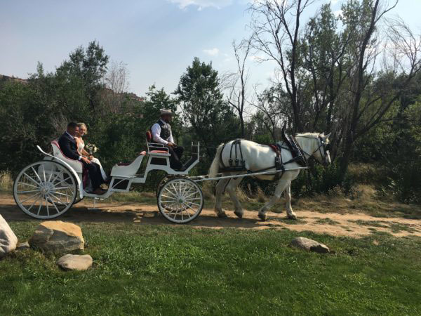 Wedding-Carraige-Sylvan-Dale-Ranch