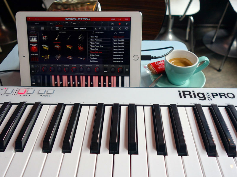 Irig Keys Pro and Sample Thank Ipad